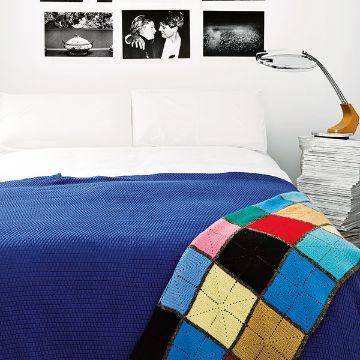 colchas de colores a crochet lisas y con muestras