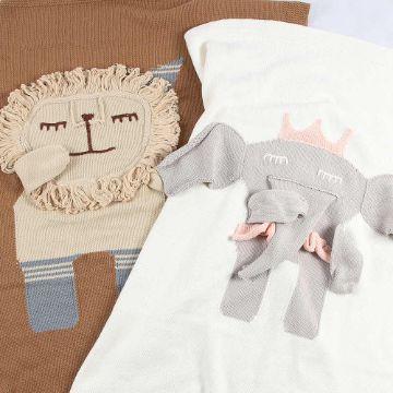 colchas tejidas para bebe animales en 3d