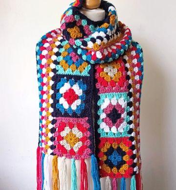 cuadrados en crochet faciles para armar prendas