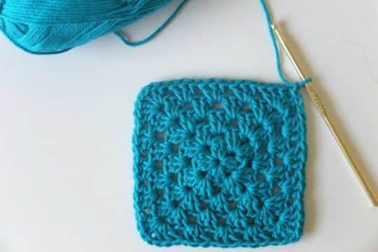 cuadrados en crochet faciles pequeños