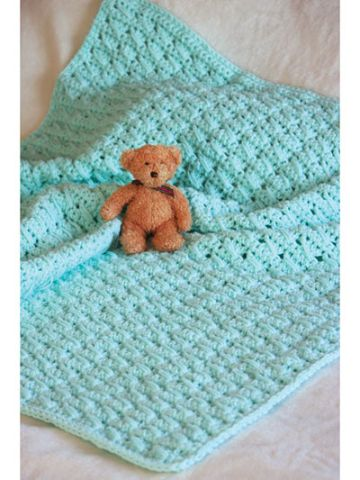 mantas a crochet para bebe con punto sencillo