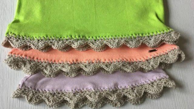 orillas para servilletas de una vuelta de colores