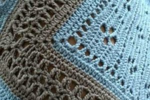 Originales orillas para servilletas de una vuelta 2 tonos