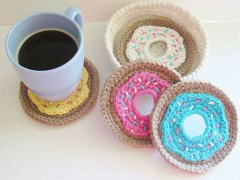portavasos tejidos a crochet diferentes capas