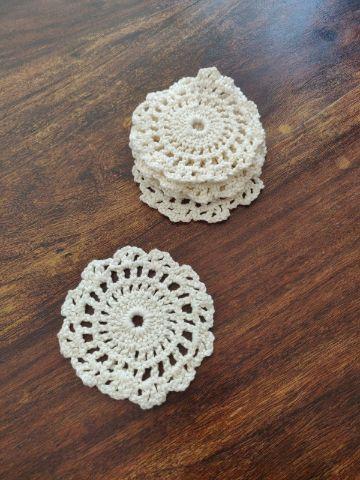 portavasos tejidos a crochet punto calado