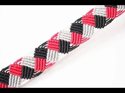 pulseras con hilo macrame a 3 tonos