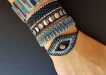 Originales pulseras con hilo macrame a 2 colores