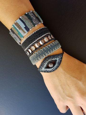 pulseras con hilo macrame artesanales