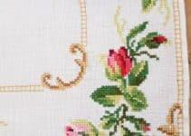 3 dibujos con punto cruz para manteles y servilletas