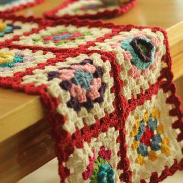 tapetes a crochet para mesa rectangular