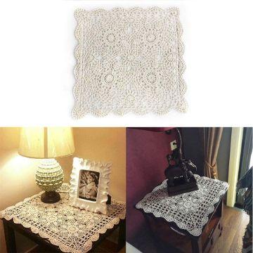 tapetes a crochet para muebles diversos