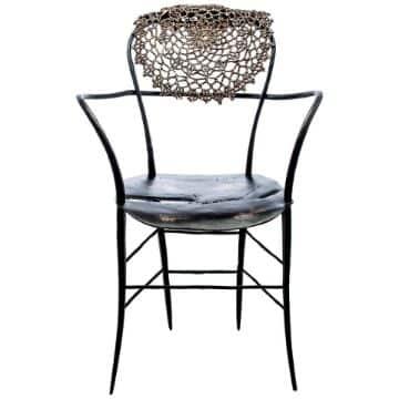 tapetes a crochet para muebles para sillas