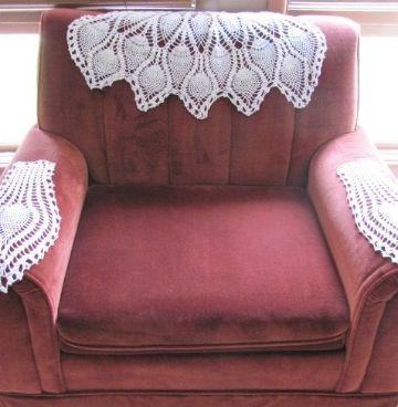 tapetes a crochet para muebles para sillones
