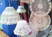 4 diseños en tapetes a crochet para muebles punto calado