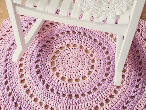 tapetes tejidos a crochet redondos puntos altos