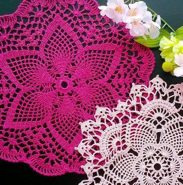 tapetes tejidos a crochet redondos puntos calados