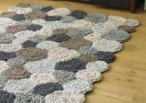 Diseños alfombras tejidas a crochet en 2 hileras