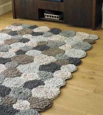alfombras tejidas a crochet flores