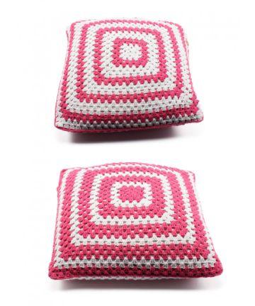 cojines cuadrados tejidos a crochet originales