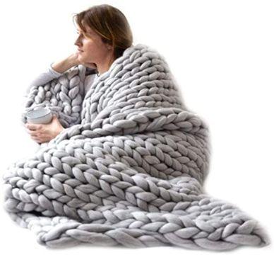 colchas tejidas a crochet a mano lana