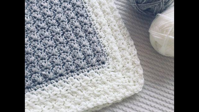 colchitas para bebe en crochet colores en borde