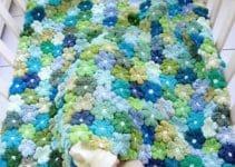 Puntadas colchitas para bebe en crochet de 3 meses