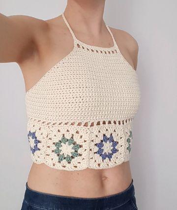 crop top tejidos a crochet patrones con muestras debajo