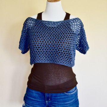 crop top tejidos a crochet patrones punto calado