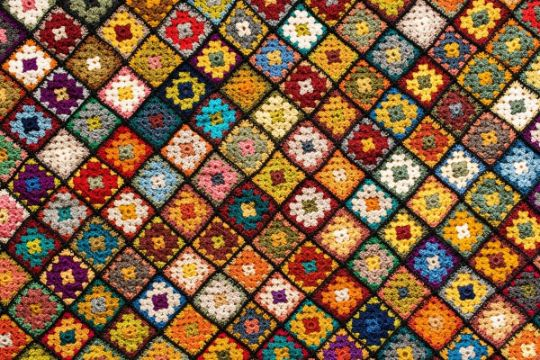 cuadros para colchas a crochet diferernetes colores