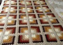 Sencillos cuadros para colchas a crochet ganchillo de 2mm.