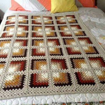cuadros para colchas a crochet efecto visual