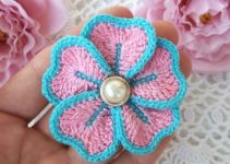 Sencillas flores en crochet paso a paso con 2 puntadas