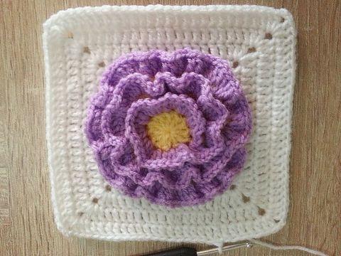 flores en crochet paso a paso en muestras