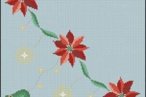 2 patrones para manteles de punto de cruz y ejemplos
