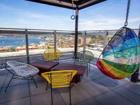 sillas colgantes para jardin de plastico tradicional