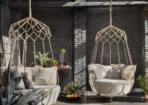 Estilos en sillas colgantes para jardin macrame 2020