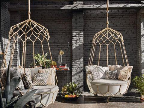 sillas colgantes para jardin material resistente