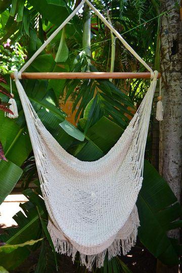 sillas colgantes para jardin sencillas