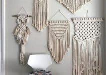 Muros con tapiz en macrame paso a paso con 18 cuerdas