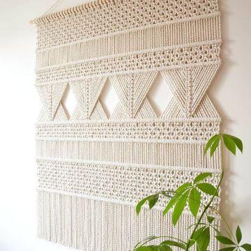 tapiz en macrame paso a paso elegantes