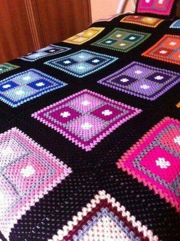tejidos de colchas a crochet muestras