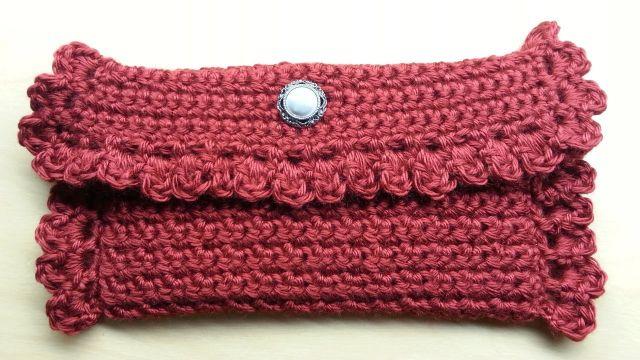 billeteras de mujer tejidas a crochet con bordes originales