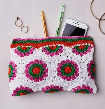billeteras de mujer tejidas a crochet flores
