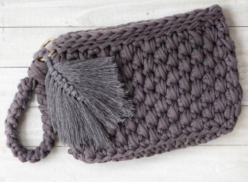 billeteras tejidas crochet patrones con trapillo
