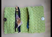 Sencillas billeteras tejidas crochet patrones gancho 3.5 mm