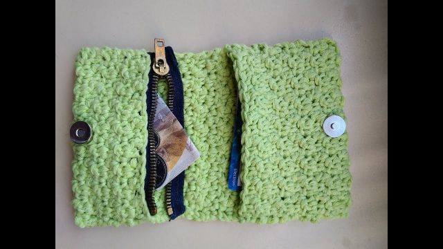 billeteras tejidas crochet patrones rectangular