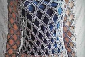 Diseños de blusas caladas a crochet con 100 gramos de hilo