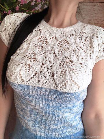 blusas caladas a crochet zona de corpiño