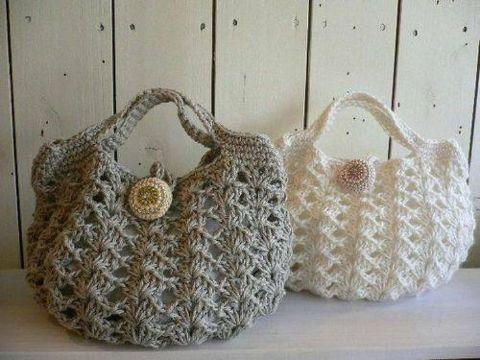 bolsas tejidas en crochet puntos calados