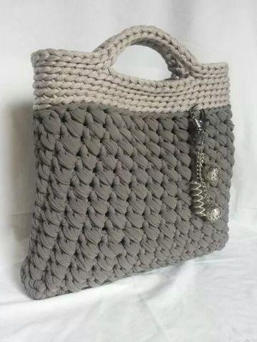 bolsas tejidas en crochet trapillo